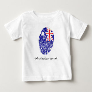 Australian touch fingerprint flag baby T-Shirt