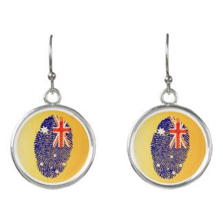 Australian touch fingerprint flag earrings