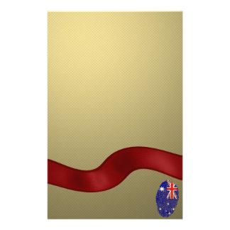 Australian touch fingerprint flag personalised stationery