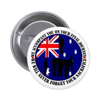 Australian traps Heroes Funeral 6 Cm Round Badge