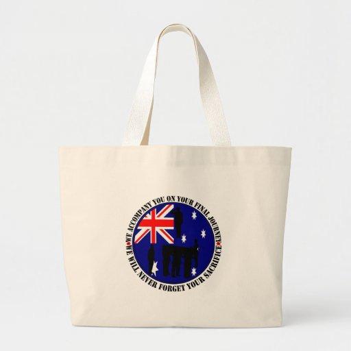 Australian traps Heroes Funeral Tote Bag