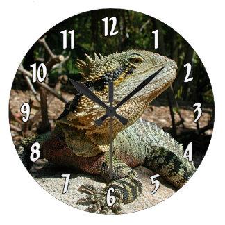 Australian Water Dragon Large Clock