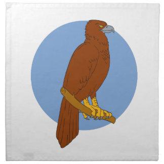 Australian Wedge-tailed Eagle Perch Drawing Napkin