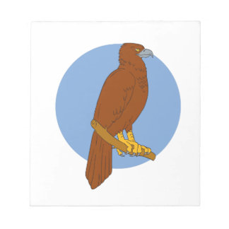 Australian Wedge-tailed Eagle Perch Drawing Notepad