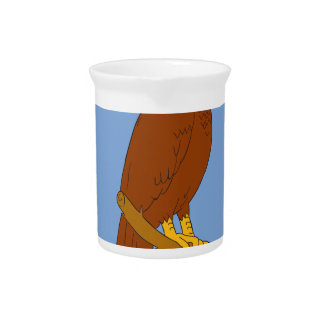 Australian Wedge-tailed Eagle Perch Drawing Pitcher