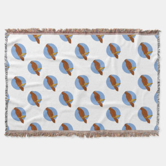 Australian Wedge-tailed Eagle Perch Drawing Throw Blanket