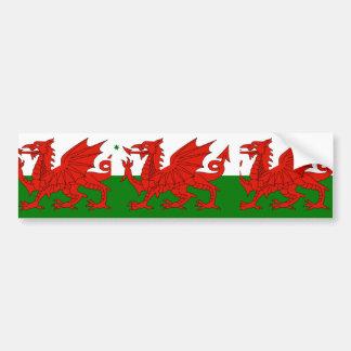 Australian Welsh Heritage Australia flag Bumper Sticker