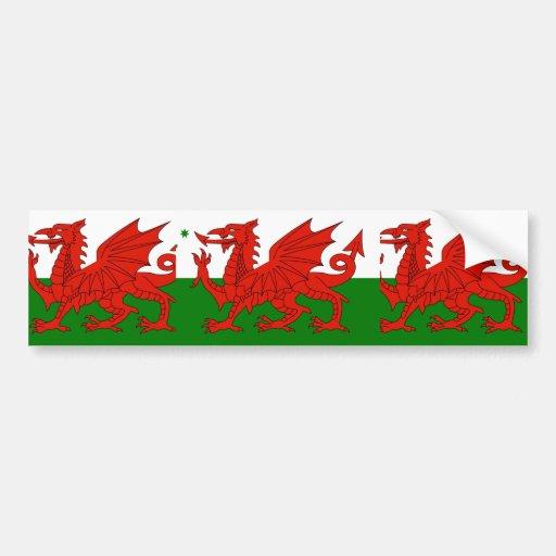 Australian Welsh Heritage, Australia flag Bumper Sticker