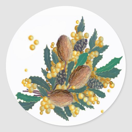 Australian Wildflowers - Banksia Stickers