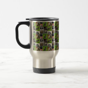 Australian Wildlife Picture Collage, Travel Mug