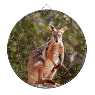 Australian yellow-footed rock wallaby dartboard