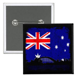Australiana 15 Cm Square Badge