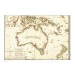 AustraliaPanoramic MapAustralia 2 Stretched Canvas Prints