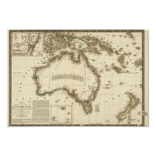 AustraliaPanoramic MapAustralia 2 Poster