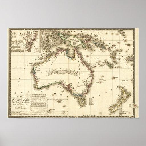 AustraliaPanoramic MapAustralia 2 Posters