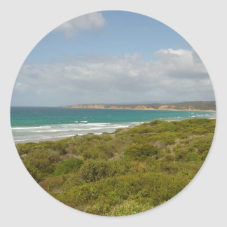 Australia's Great Ocean Road Round Sticker