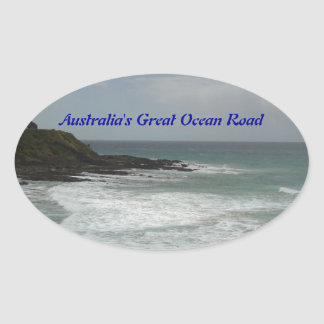 Australia's Great Ocean Road Oval Stickers