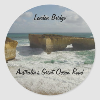 Australia's London Bridge Round Sticker