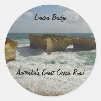Australia's London Bridge Round Sticker