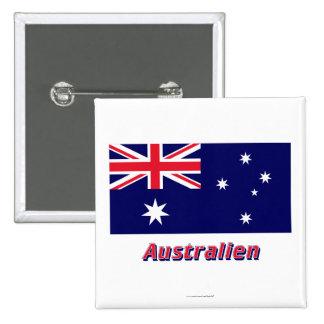 Australien Flagge mit deutschem Namen Pins