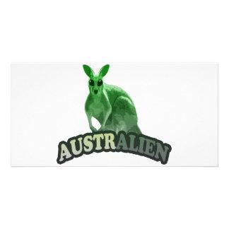 AustrAlien t-shirt Photo Card Template