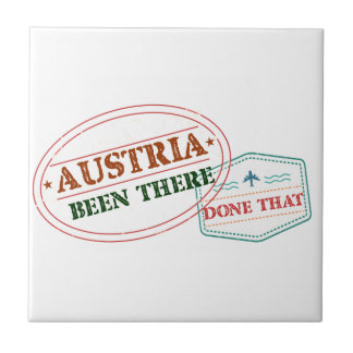 Austria Been There Done That Small Square Tile
