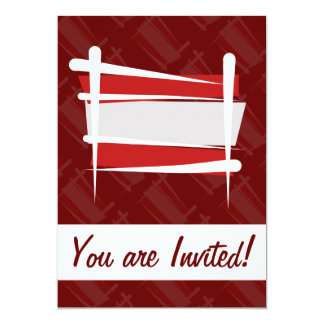 "Austria Brush Flag 5"" X 7"" Invitation Card"
