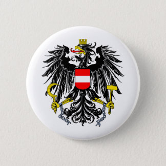 Austria coat of arms 6 cm round badge
