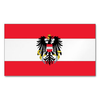 Austria Coat of Arms Magnetic Business Cards