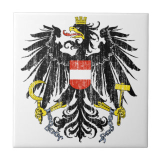 Austria Coat Of Arms Small Square Tile
