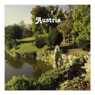 "Austria Countryside 5.25"" Square Invitation Card"