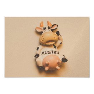 Austria cow magnet personalized invites