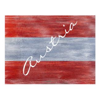 Austria distressed Austrian flag Postcard