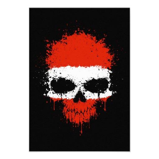 Austria Dripping Splatter Skull Announcement
