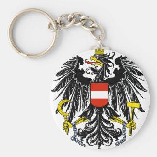 austria emblem basic round button key ring