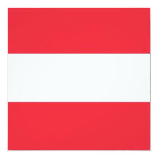 Austria Flag 13 Cm X 13 Cm Square Invitation Card