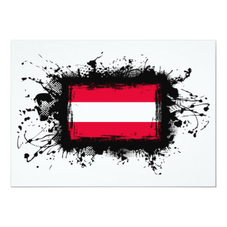 Austria Flag 13 Cm X 18 Cm Invitation Card