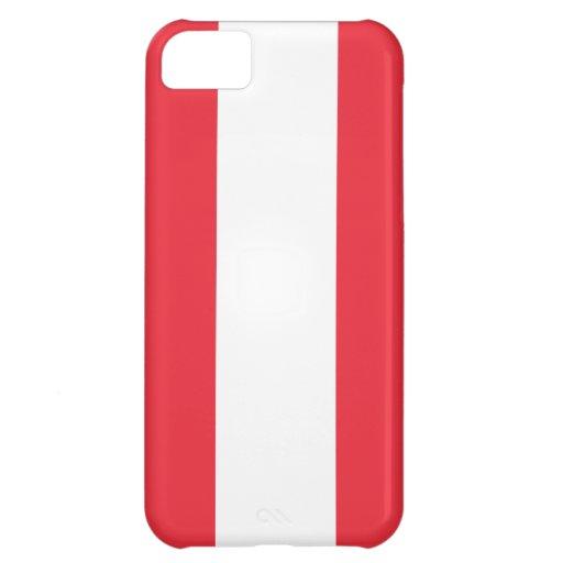 Austria Flag Case For iPhone 5C