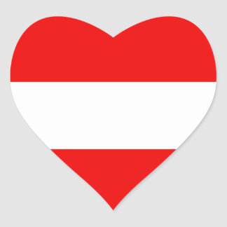 Austria Flag Heart Sticker