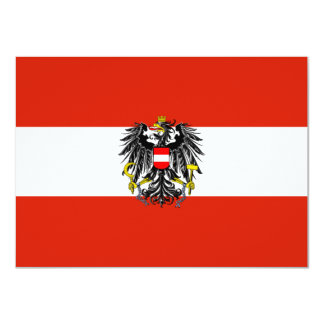 "Austria Flag Invitation 4.5"" X 6.25"" Invitation Card"