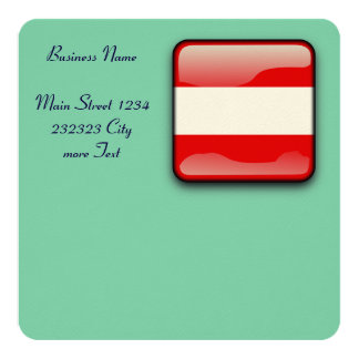 "Austria Flag 5.25"" Square Invitation Card"