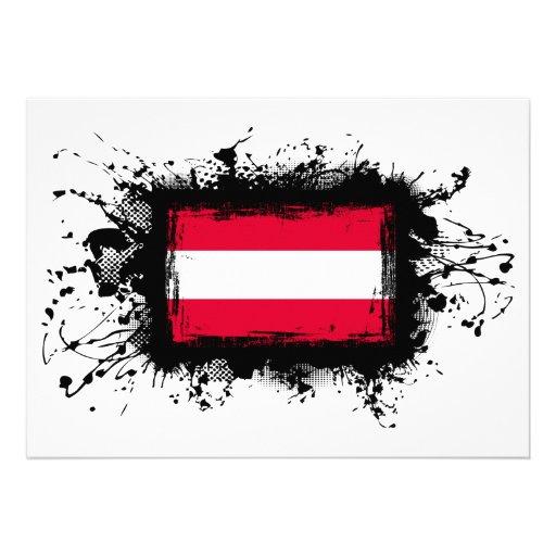 Austria Flag Personalized Invites
