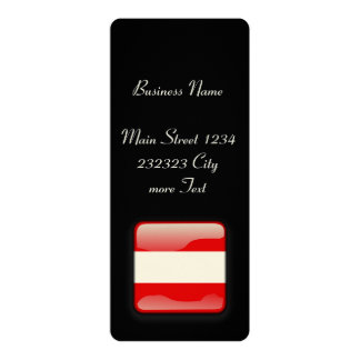 "Austria Flag 4"" X 9.25"" Invitation Card"