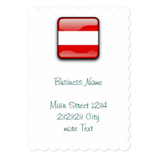 "Austria Flag 5"" X 7"" Invitation Card"