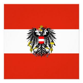 Austria Flag Invitation