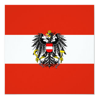 "Austria Flag Invitation 5.25"" Square Invitation Card"
