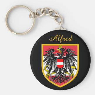 Austria Flag Key Ring