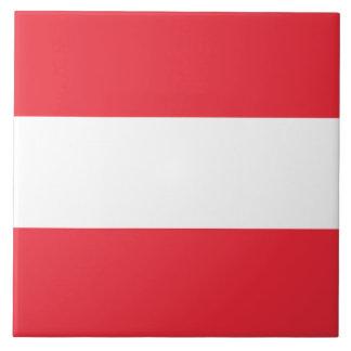 Austria Flag Large Square Tile