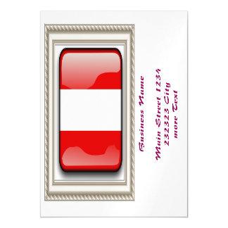 Austria Flag Magnetic Invitations