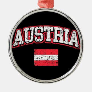Austria Flag Metal Ornament